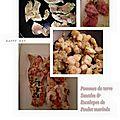 Escalopes de poulet marinées et pommes de terre sautées