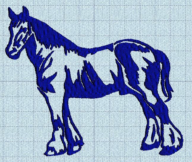 cheval trait machine