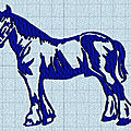 Broderie machine : cheval de trait