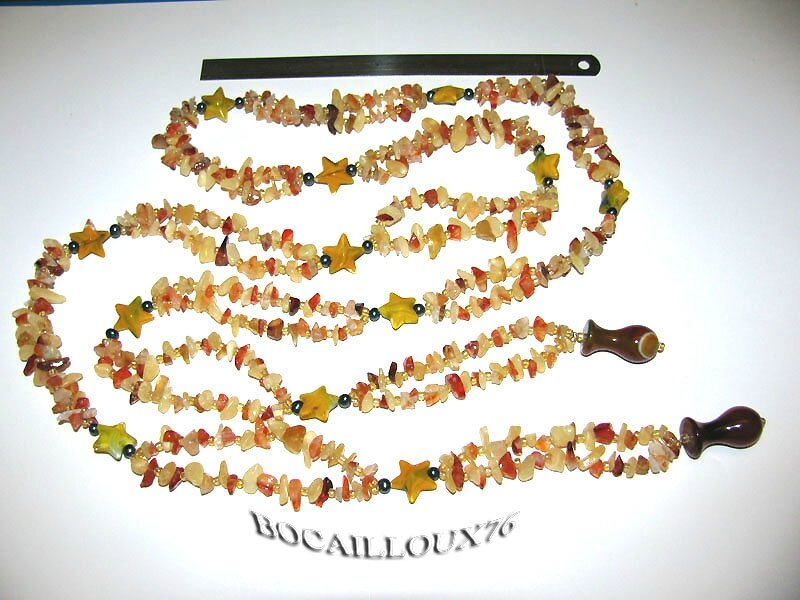 ESSAI 1 - COLLIER BOA DE PIERRES - LONG 140cm