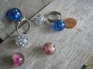 bagues et perles bulles