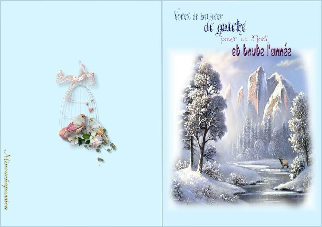 Cartes de Noël à imprimer   Bienvenue chez Minouchapassion