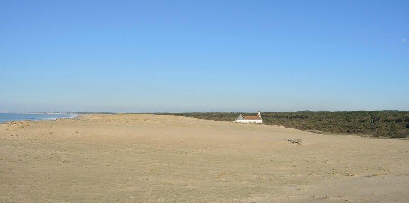 Labenne-Océan, chapelle Sainte Thérèse, dunes et océan (40)