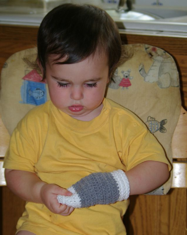 moufles bébé au crochet