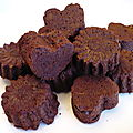 Coeurs moelleux chocolat-banane-noix