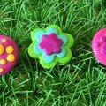 Broches Mush et Fleurs