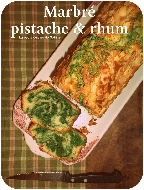 Marbré pistache + rhum