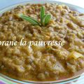 Lentilles sauce tomate-fromage