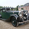 Bentley 4 1/4 litre light sports saloon by park ward 1938