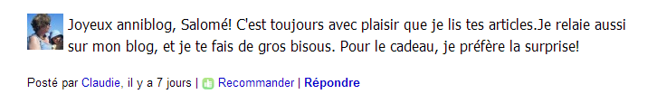 commentaire Claudie