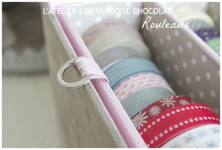 Boîte masking tape rouleaux