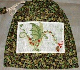 Sac à pyjama - Dragon et Wiltshire berry vert