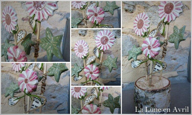Statue fleurettes