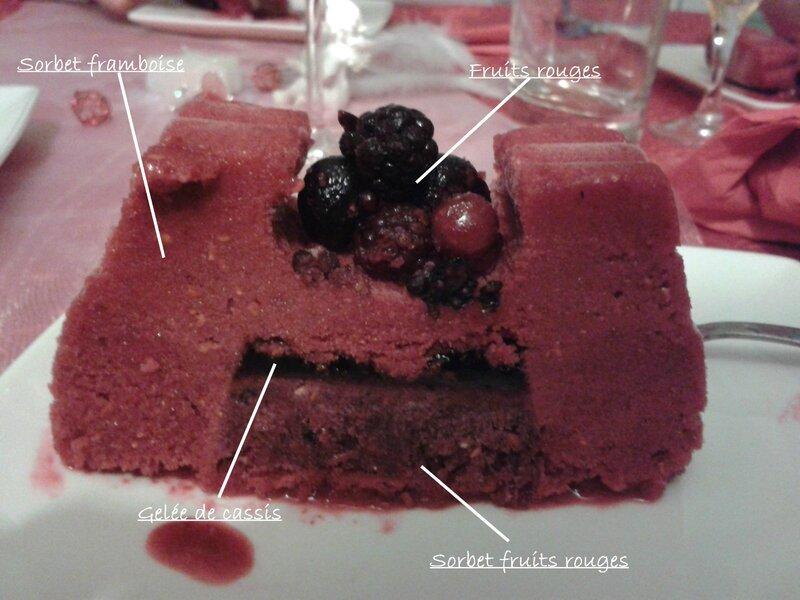 buche glacée fruits rouges
