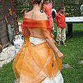 Mariage d'automne : parure de bijoux perles oranges