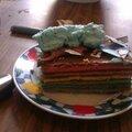 part de rainbow cake
