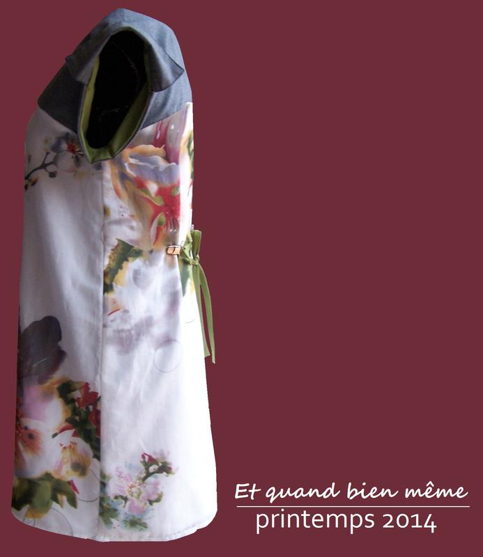 Robe GRAPH orchidée côté