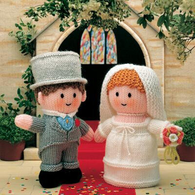 Traduction Bride and Groom - Little gift dolls - Jean Greenhowe