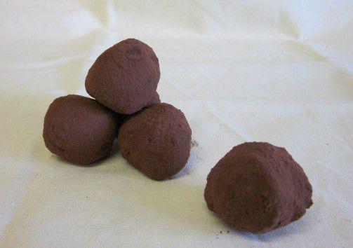 Truffes et bonbons chocolatés
