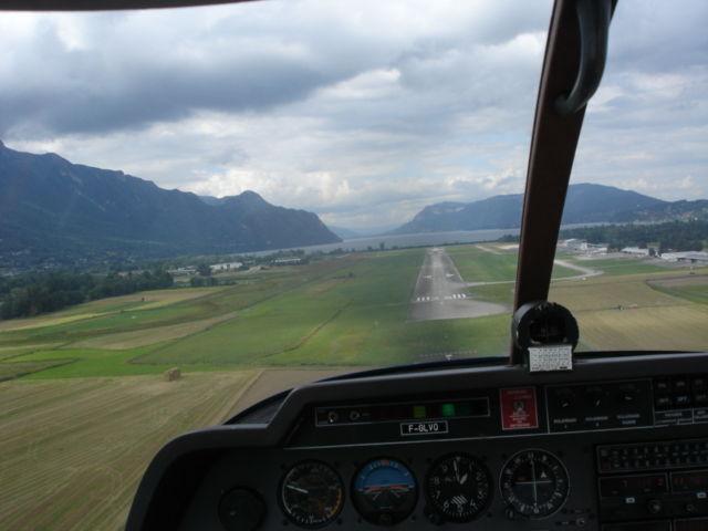 atterrissage Chambéry...