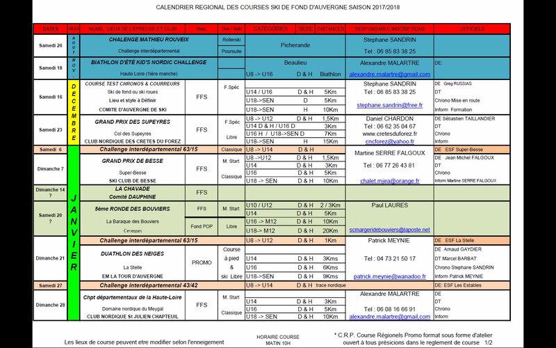 Calendrier Régional Fond 2017-18 1ère partie