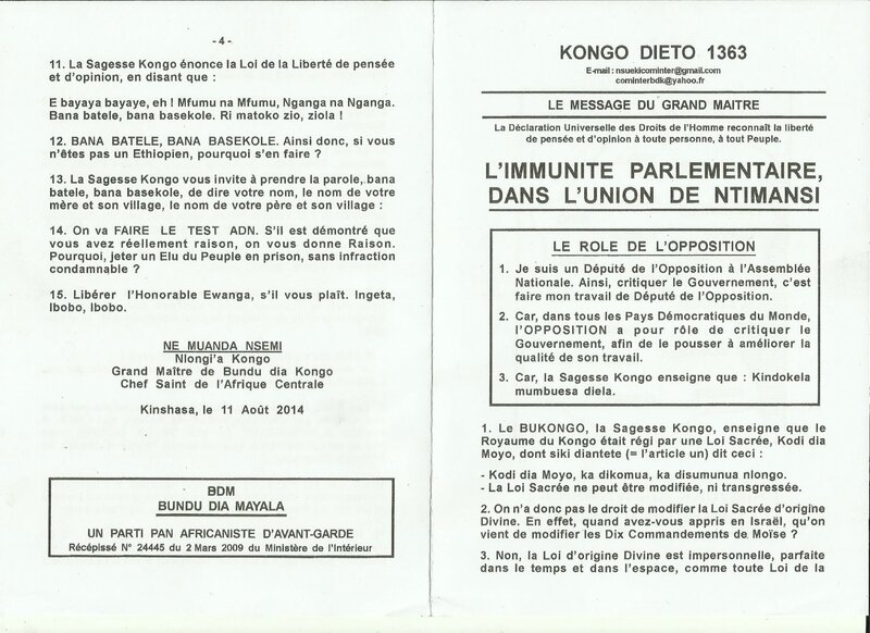 L'IMMUNITE PARLEMENTAIRE a