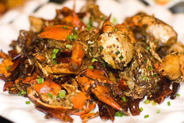 Fricassée de crabes