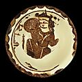 An abbasid lustre figural pottery bowl, mesopotamia, 9th century