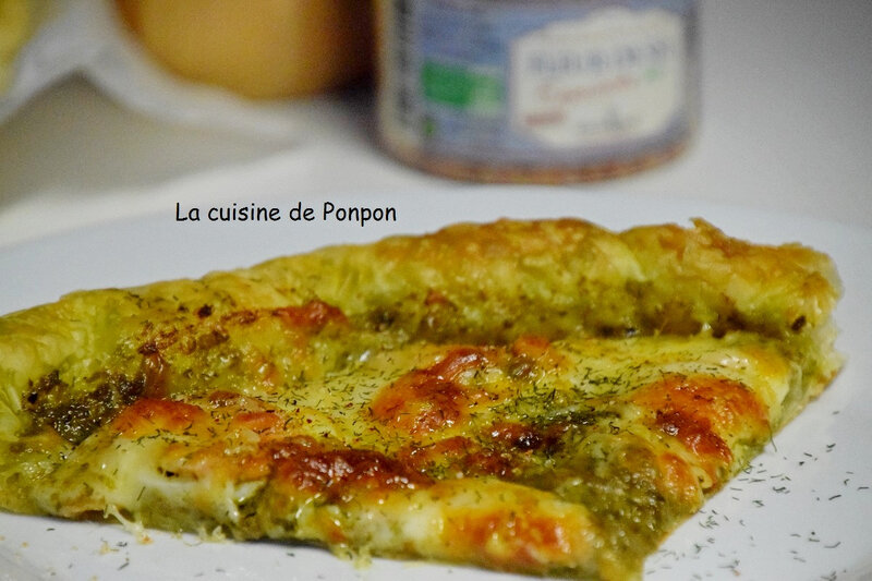 tarte pesto saumon et mozza (11)