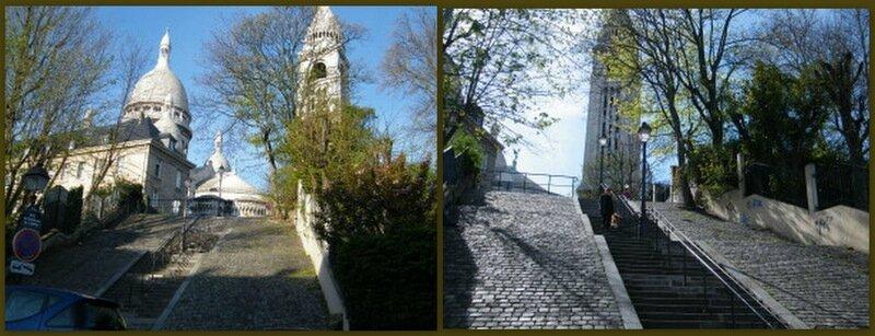 Montmartre escalier de la barre
