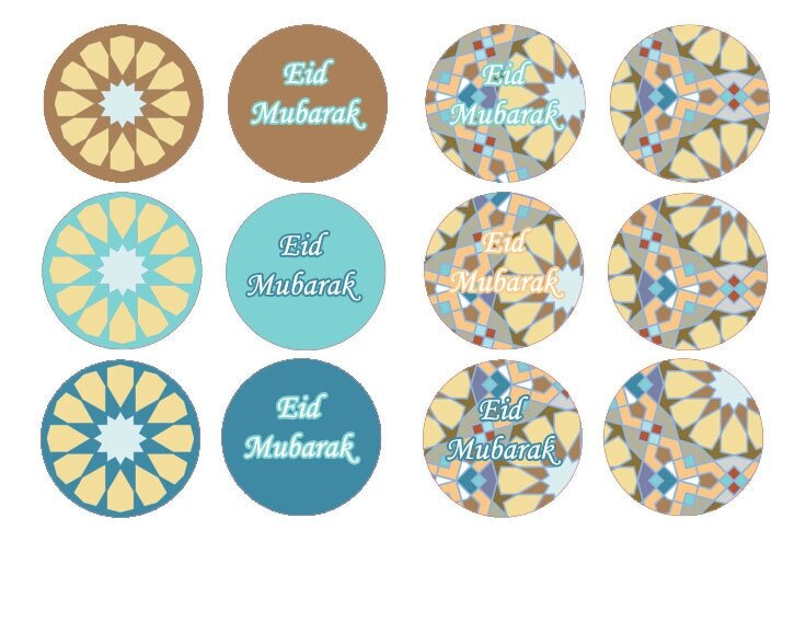 cupcake toppers mosaique