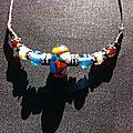 Perles en verre filées au chalumeau