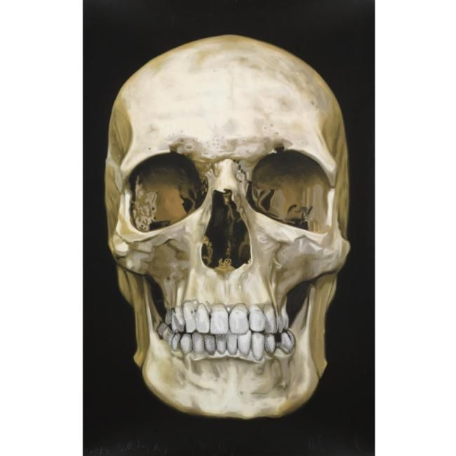 Damien Hirst (B.1965), The skull beneath the skin. photo courtesy Sotheby's