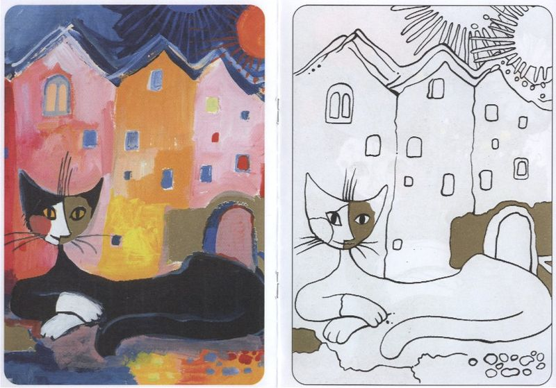 Coloriage Chat Rosina Wachtmeister.Les Chats De Rosina Wachtmeister La Classe De Melusine