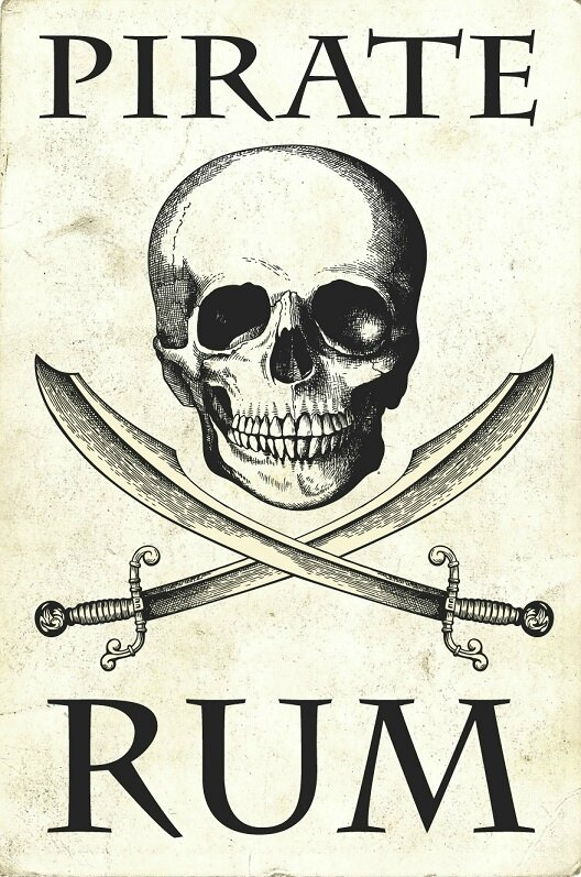 label rum pirate skull 2
