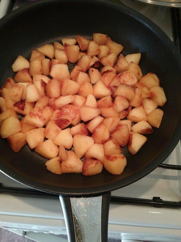 Cake aux pommes et à la pâte de spéculoos 058
