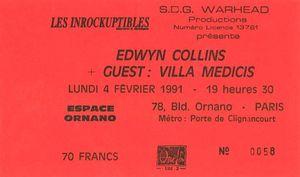 1991_02_Edwyn_Collins_Espace_Ornano_Billet