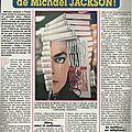 Les secrets d'amour de michael jackson - ciné, télé revue, 1988