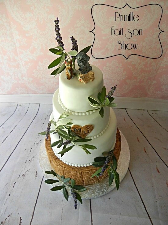 wedding cake nature lavande olivier bois prunillefee 1