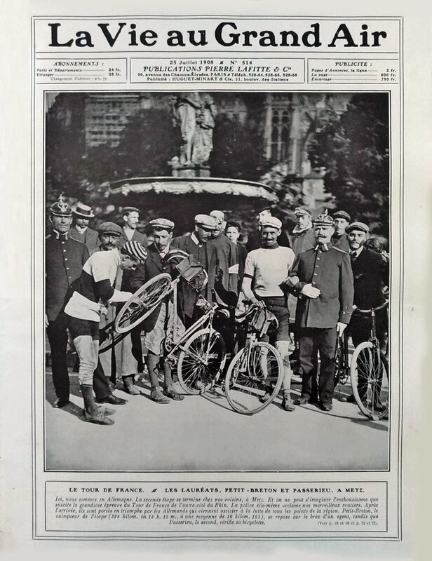 Tour de France Metz La Vie au Grand Air 25 juil 1908