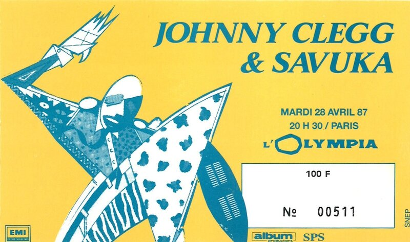 1987 04 Johnny Clegg Savuka Olympia Billet