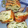 Cake aux allumettes de dinde et asperges vertes