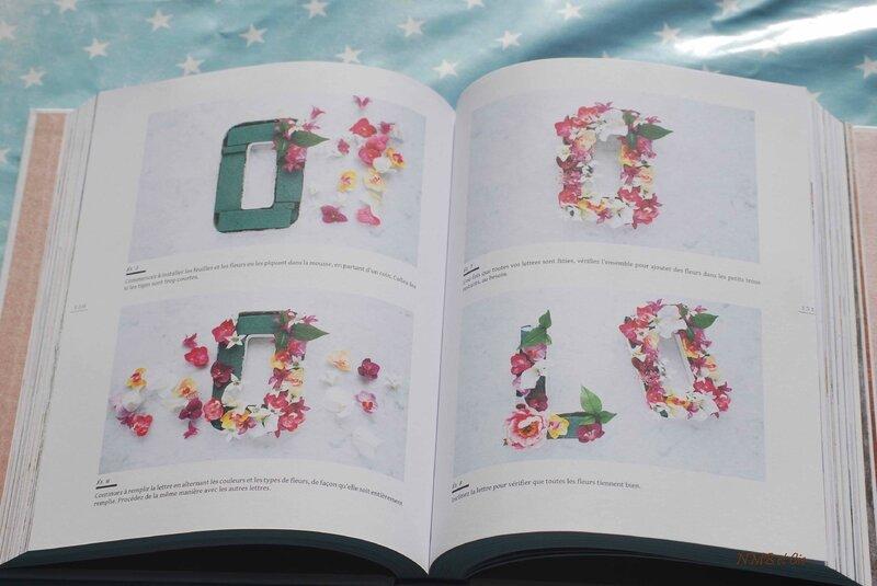 Lettre fleurs - Le Grand Livre du DIY