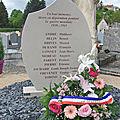Stèle des Morts en déportation de Bourbon - Lancy