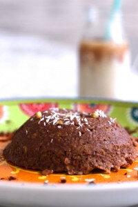Bowlcake flocon d'avoine chocolat-noix de coco