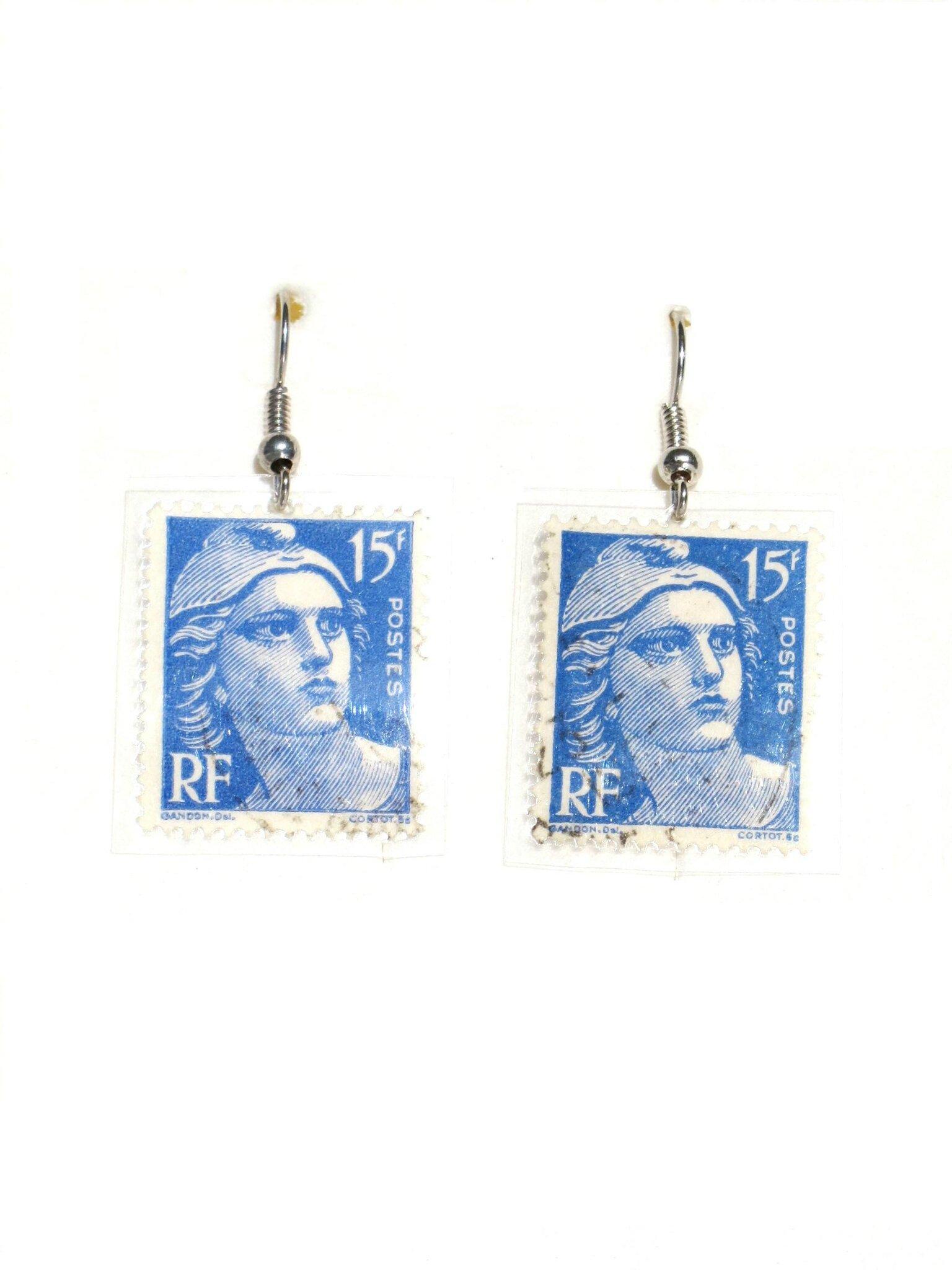 bijoux timbre france bleu 15f