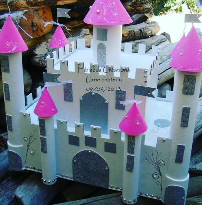 Urne château thème féerique