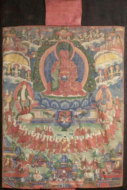 Thangka - Lineage Tree of the Gelugpa Sect