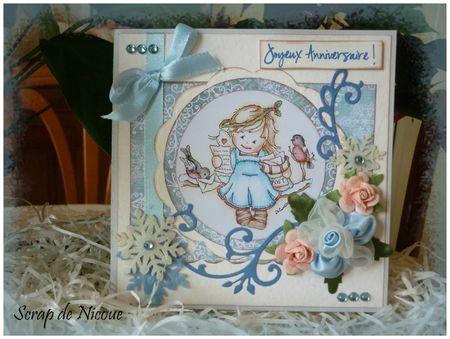 Carte pop-up fleuri