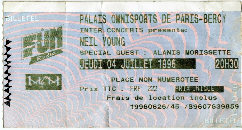 1996 07 Neil Young POP Bercy